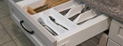 DOUBLE-WALL DRAWER CUTLERY TRAY - PLASTIC